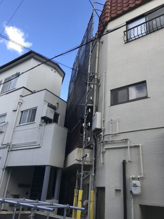 堺市堺区にて足場施行
